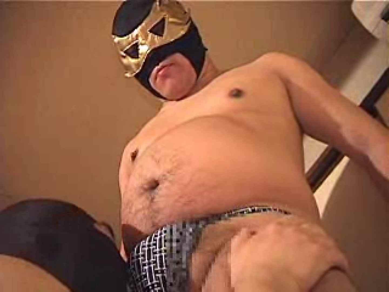 覆面レスラーVS覆面熊(リングをベットに変えて之巻) 手コキ 男同士画像 100pic 82