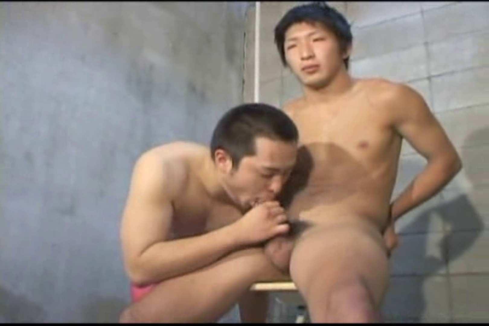 機械室で体育会系男子を手コキ&フェラ!! 無修正 ゲイAV画像 96pic 60
